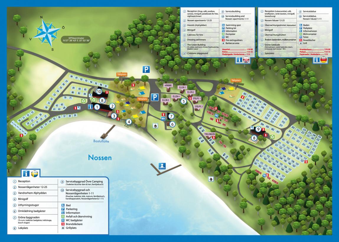 Områdeskarta över Vimmerby Camping
